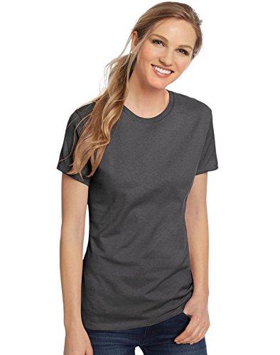 ngspun Cotton Nano-T T-Shirt (SL04) -Smoke Grey -XL (Smoke Womens Tee)