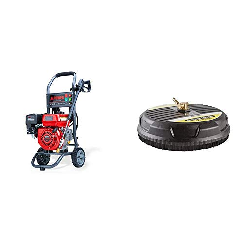 A-iPower-APW2700C-Gas-Powered-Pressure-Washer-2700-PSI-and-23-GPM-7HP-with-3-Nozzle-Attachments-CARB-Compliant-Red-Karcher-15-Inch-Pressure-Washer-Surface-Cleaner-Attachment-3200-PSI-Rating
