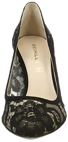 Dei Mille Damen Kelly-90 Pumps Schwarz (nero Lace)