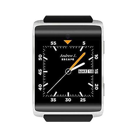 DM2018 1.54inch Banda Bluetooth GPS Deportes 4G Reloj Inteligente 4.0 Monitor de Ritmo cardíaco podómetro para Android 6.0 Reloj de Pulsera: Amazon.es: ...