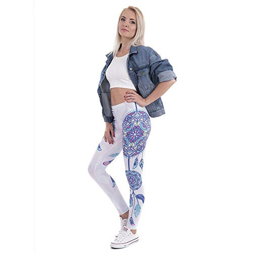 De Legging Mode Stretch Legins Imprimer Lga40554 Taille Marque Femme Femmes Pantalon Leggings Yoga Haute Mandala Élégant Unique Plumes Betrothales Aw7pfp