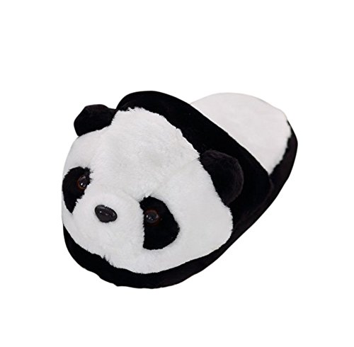 House Shoes Slip Plush Outdoor Panda in Womens Slippers Indoor Winter Shape Drasawee OXBS8xqwq