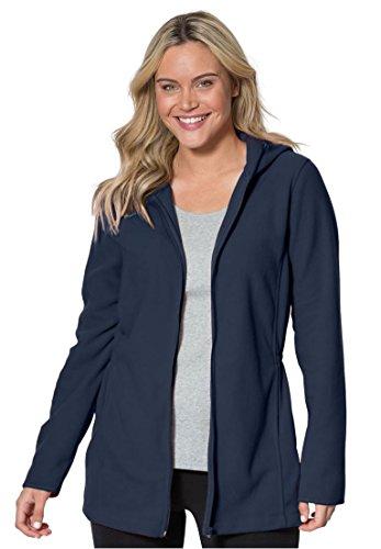 Blue Polyester Parka Set (Women's Plus Size Fleece Parka)