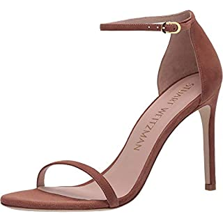 Stuart Weitzman Nudistsong Ankle Strap Sandal Cappuccino Suede 9 N