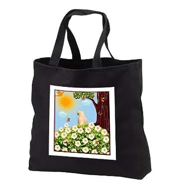 SmudgeArt Bird Artwork Designs - Sulphur Crested Cockatoo - Bird Art - Tote Bags - Black Tote Bag 14w x 14h x 3d (tb_6564_1)