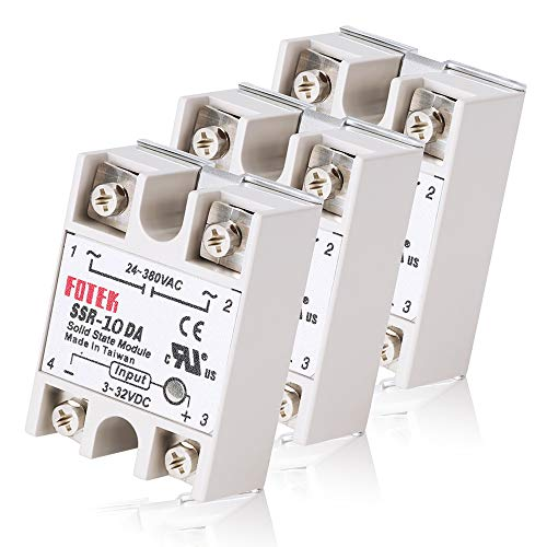 MYSWEETY 3PCS SSR-10DA Solid State Relay Single Phase Semi-Conductor Relay Input 3-32V DC Output 24-380V AC