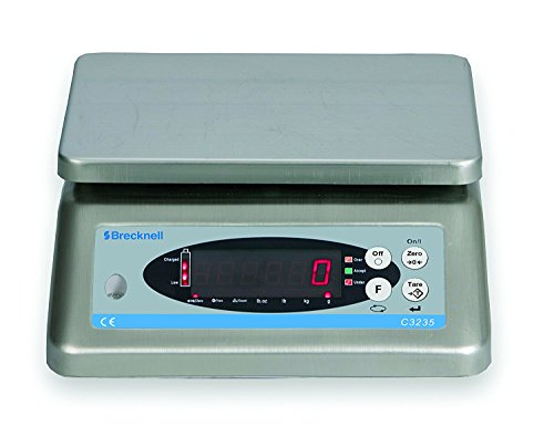 Brecknell C3235-3/6 Washdown Checkweigher, 6 lb. Capacity, Provides Rapid indication of weight and Over, under, Accept tolerances, Washable, Rechargeable, Plastic