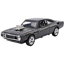 MyLifeUNIT 1:32 Dodge Charger 1970 Alloy Die-cast Car Model Collection light &Sound(Black)