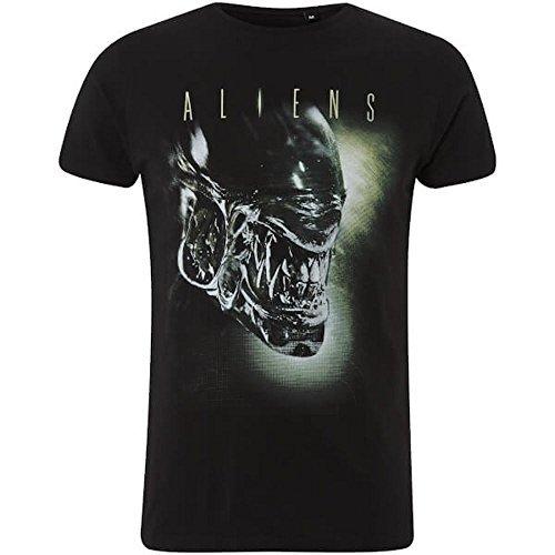 Aliens (película) - xenomorfo - Camiseta Oficial Hombre - Negro, Medium
