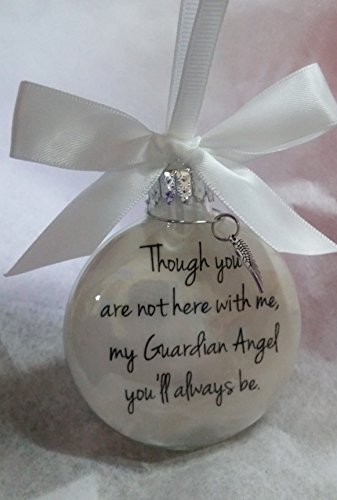 In Memory Memorial Ornament My Guardian Angel You'll Always Be w/ Charm Sympathy Gift ()