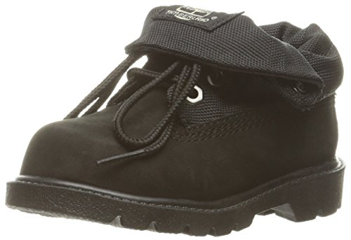 Timberland Roll-Top Single Shot Boot with Closure (Toddler/Little Kid/Big Kid), Black, 6 M US Toddler