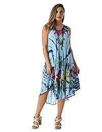 Riviera - Vestido de Verano con diseño Floral Pintado a Mano