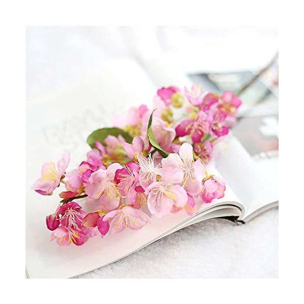 1Pcs Artificial Flowers Silk Flower Fake Leaf Cherry Blossom Wedding Decoration Home Decor Party Ornaments,White