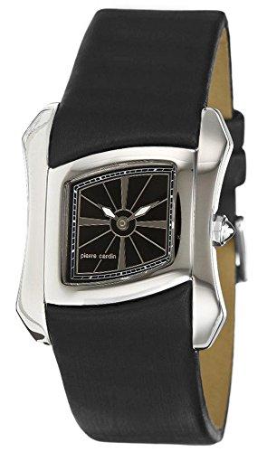 Black Papillon Watch - Pierre Cardin Papillon Swiss Made - PC102162S01-Black - calfskin-Rectangular