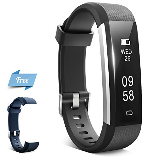 Fitness Tracker, HQBEi N5 Activity Tracker: Pedometer and Sleep Monitor, Bluetooth Fitness Wristband, Waterproof Activity Wristband with Colorful Replacement band for Android & IOS