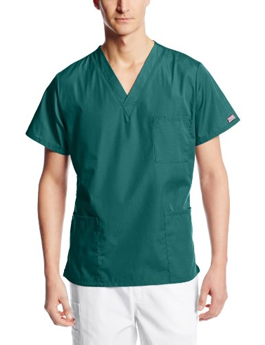 Cherokee Originals Unisex V-Neck Scrubs Top, Hunter, X-Small ()