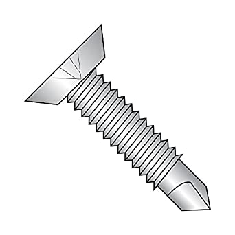 1-1//2 Length #3 Drill Point 410 Stainless Steel Self-Drilling Screw Pack of 10 1-1//2 Length Phillips Drive Undercut 82 Degree Flat Head Plain Finish #12-14 Thread Size Small Parts 1224KPU410 Pack of 10