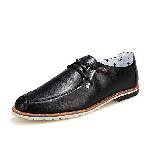 Verano simple casuales zapatos/Zapatos de aire negocio/Hombres zapatos de moda Negro