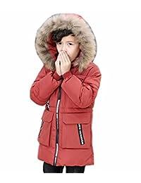 Kmety Kids Boys Fur Hooded Heavyweight Bubble Jacket Winter Warm Coat