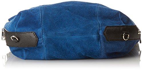 Vera Borsa Made Italiana 39x37x3 In Donna Cm Italia Blu blu Ctm Al Pelle Zaino xFwtA61q6