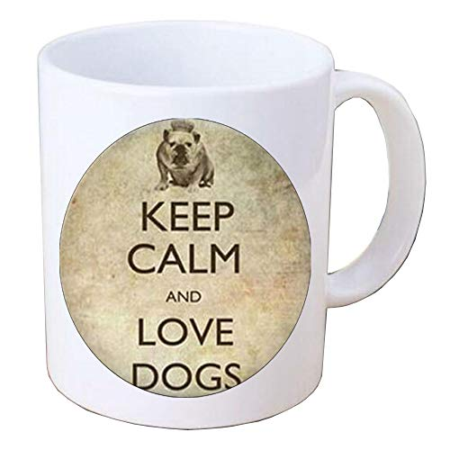 Keep calm and love dogs Mug.Keep calm Coffee Mug.Keep calm jewelry.Birthday gift Read book Mug Coffee Mug quote jewelry perality gift for book worm,BV358 -