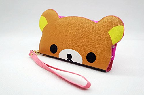 Cute Cartoon 3D Bear head flip Leather Wallet Case Pouch Cover Holster for LG Rumor Reflex S / Rumor Reflex / Freedom / Converse Phone