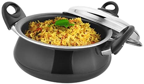 Kitchen Chef Mughlai Biryani Handi, 4 Litres Sauce Pots & Handis at amazon