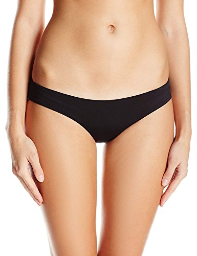 ni Bottom Smart Ruched Semi Thong Brazilian Cheeky T-Back Booty Solid Color Girls Black m ()