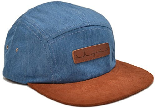 Skyed Apparel 5 Panel Hat Collection With Genuine Leather Strap (Multiple Colors)