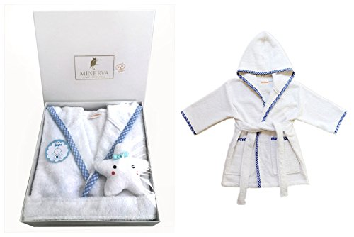 MINERVA Baby&Kids Prince Bathrobe &Star Plush Toy Gift Set Baby&Kids Prince Bathrobe &Star Plush Toy Gift Set For 0~6 Years Old 100%Virgin Cotton (M) by MINERVA HOME