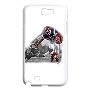 Samsung Galaxy Note 2 7100 White Cell Phone Case Buffalo Bills NFL Unique Clear Phone Cases NLYSJHA1078