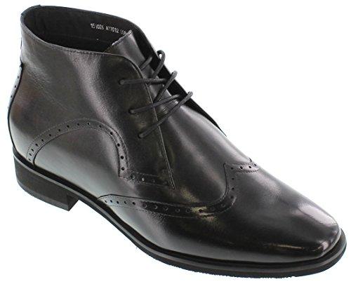 Toto A17012-2.8 Inches Høyere - Høyde Økende Heis Sko - Svarte Blonder-up Boots