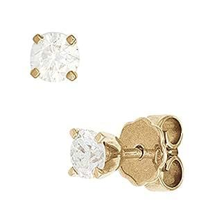 Schmuck pendientes con brillantes 0.25 T.C.{585} de oro de estilo clásico para mujer