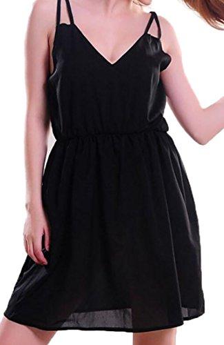 ハイブリッドキャラクター国民投票WSPLYSPJY DRESS レディース カラー: ブラック