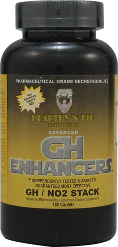 Healthy'N Fit Nutritionals Advanced GH Enhancers GH NO2 -- 180 Caplets Advanced Gh Enhancers