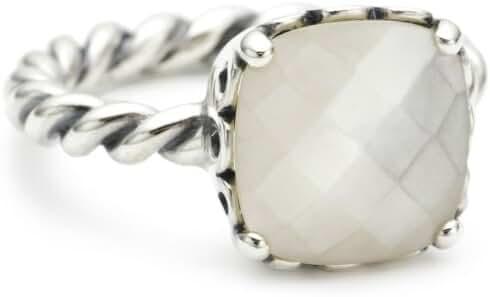 Pandora Elegant Sincerity Twist Ring, Mother of Pearl 190828MP-58 E.U. 8.5 US