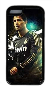 Customizablestyle Real Madrid Cristiano Ronaldo-2 iPhone 5C TPU Black Rubber Shell Case