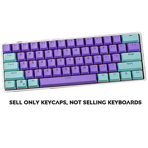 Sunzit Keycaps, 61 Teclas Keycaps Backlight Bicolor Teclado Mecánico PBT Keycap para GH60 / RK61 / ALT61 / Annie…