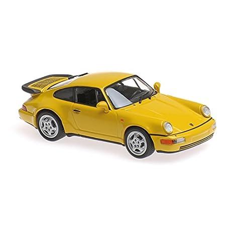 Maxichamps 1:43 1990 Porsche 911 Turbo (964) - Yellow - 940069104