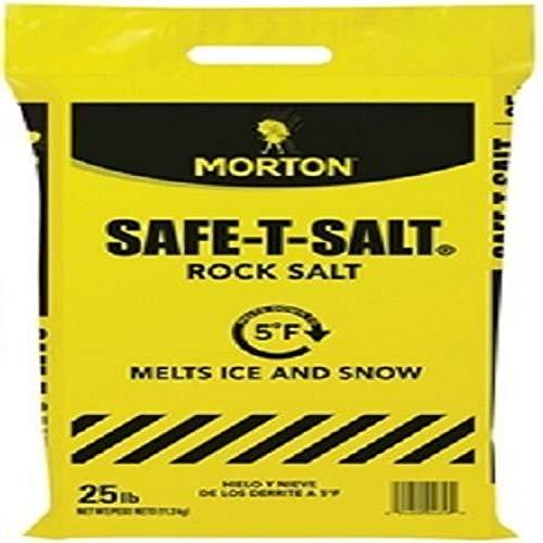 Morton Safe-T-Salt Rock Salt 25.0 LB For Snow And Ice