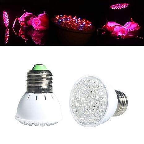 ALED LIGHT® - Luz LED para cultivos, 38 LED, E27, bombillas para