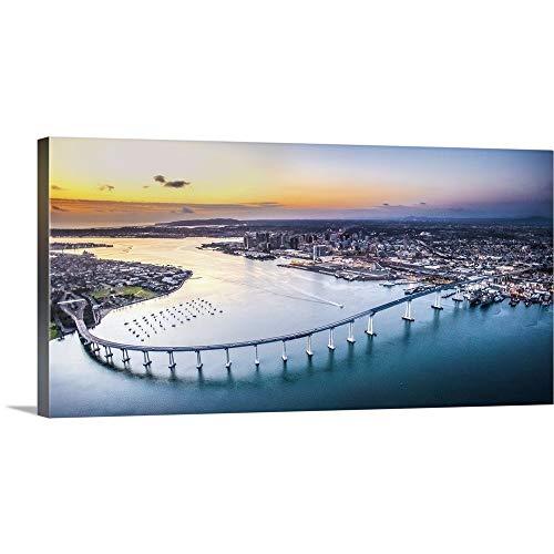 GREATBIGCANVAS Gallery-Wrapped Canvas Entitled Coronado Bridge, San Diego by Copterpilot Photography 48