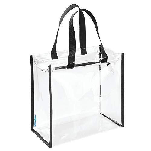 Pelican Toy Bath - InterDesign Nya Travel Accessories Bag, Tote for Personal Care/Beauty Products, Toys, Stadium, Beach, Gym - Clear/Black