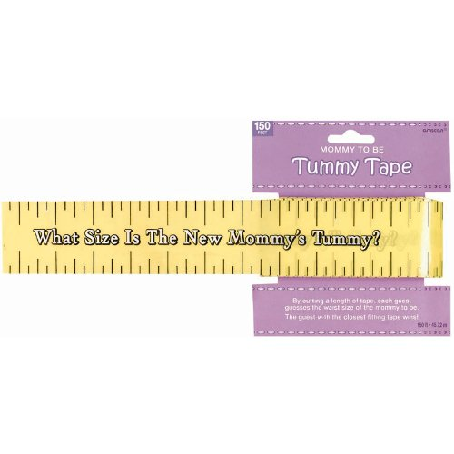 amscan Games, Tummy Measure Baby Shower Game, Party Supplies, Multicolor, 2in x 150ft   1ct