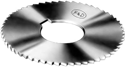 "F&D Tool Company 15394-J154 Jeweler's Slotting Saws, High Speed Steel, 2"" Diameter, 0.016"" Width, 1/2 Hole Size, 24 Teeth per Inch, 152 Teeth per Saw"