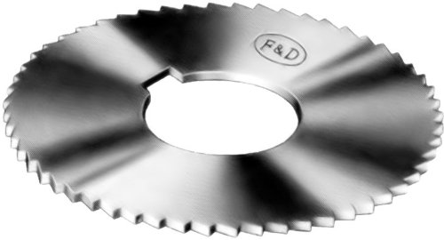 F&D Tool Company 15509-J210 Jeweler's Slotting Saws, High Speed Steel, 4'' Diameter, 0.028'' Width, 1/2'' Hole Size, 24 Teeth per Inch, 310 Teeth per Saw
