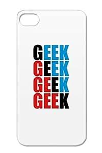 Funny Students Geek Computer Scientist Humorous IQ Nerd Genius Freak Online Navy For Iphone 4 Geek 2 F3 Case