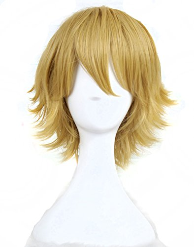 Man's Fashion Short Blonde Cosplay Wig Costume Wig]()