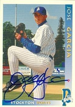 Jose Garcia Autographed Baseball Card Minor League 1998