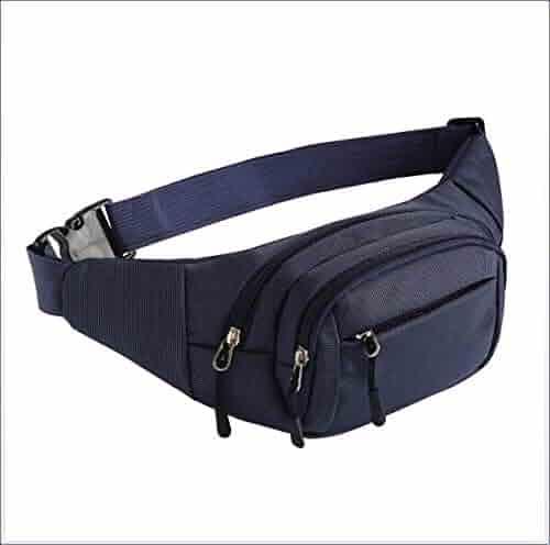 Vintage Neutral Outdoor Zipper Leather Messenger Bag Sport Chest Bag Waist Bag 30 Bridal & Wedding Party Jewelry